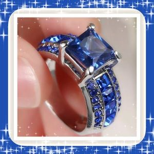 🌺🌴🌺 BLUE SAPPHIRE GEMSTONE RING🌺🌴🌺